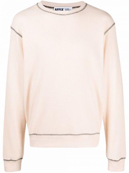 Różowa bluza długa z długimi rękawami bawełniana Affix