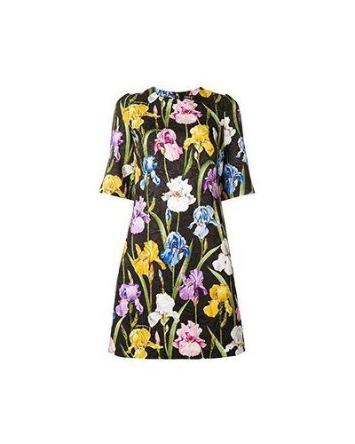 Вечернее платье из вискозы - черное Dolce&gabbana