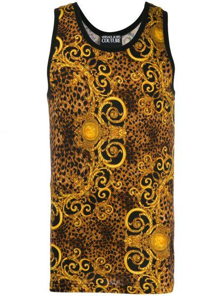 Kamizelka bez rękawów bawełniana z printem Versace Jeans Couture