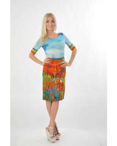Летнее платье из вискозы Angelo Marani