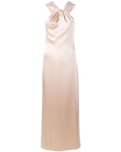 Вечернее платье розовое с вырезом Blanca