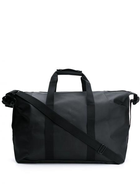 Черная дорожная сумка на молнии со шлейфом Rains