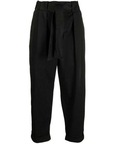 Czarne brokatowe spodnie Dondup