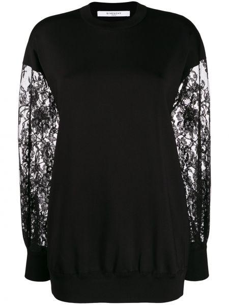Sweter ażurowy na gumce Givenchy