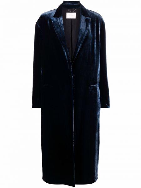 Синее однобортное пальто Dorothee Schumacher
