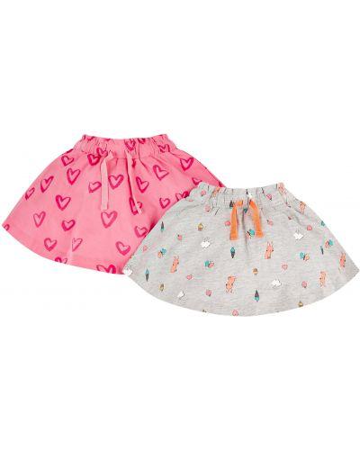 Юбка серая розовый Mothercare