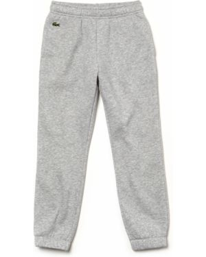 Спортивные брюки серые с манжетами Lacoste