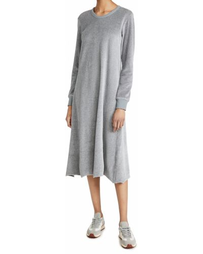 Ватное хлопковое платье макси с длинными рукавами Wilt
