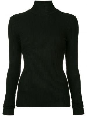 Прямая черная блузка из вискозы Nobody Denim