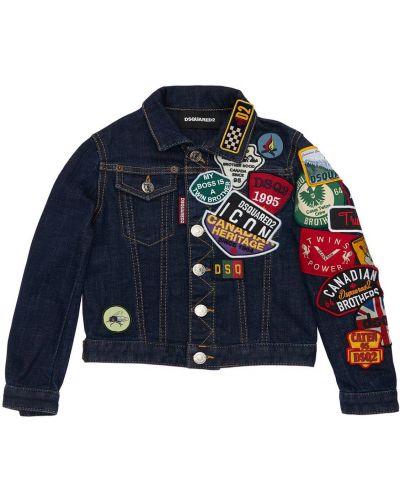 Хлопковая джинсовая куртка - синяя Dsquared2
