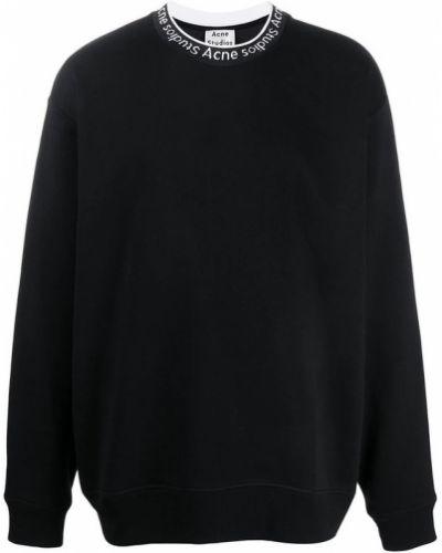 Czarna bluza oversize bawełniana Acne Studios