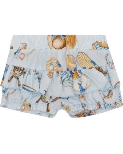 Короткие шорты с отворотами с оборками Monnalisa
