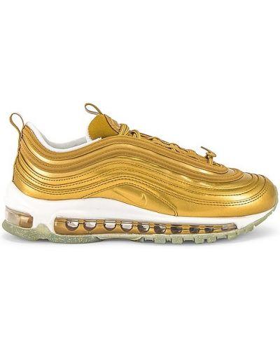 Ażurowy włókienniczy sneakersy na sznurowadłach złoto Nike