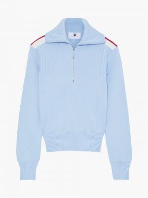 Prążkowany niebieski sweter wełniany Cordova
