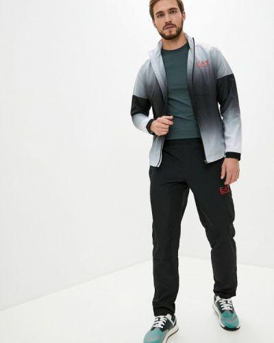 Черный костюмный спортивный костюм Ea7