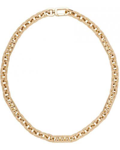 Złoty naszyjnik łańcuch Prada