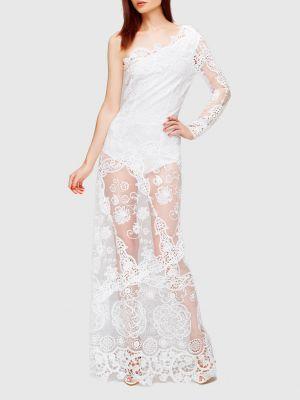 Кружевное платье макси - белое Charo Ruiz