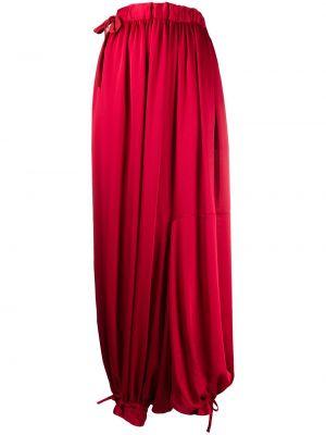 Красные свободные укороченные брюки свободного кроя с завязками Yohji Yamamoto Pre-owned