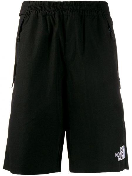 Czarne krótkie szorty z haftem bawełniane The North Face Black Series