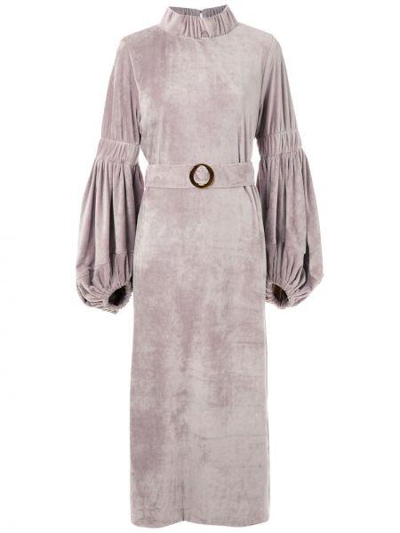 Платье миди с рукавами приталенное Framed