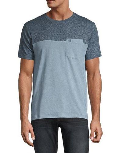 T-shirt bawełniany na co dzień krótki rękaw Original Penguin