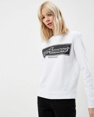 Белый свитшот Armani Exchange