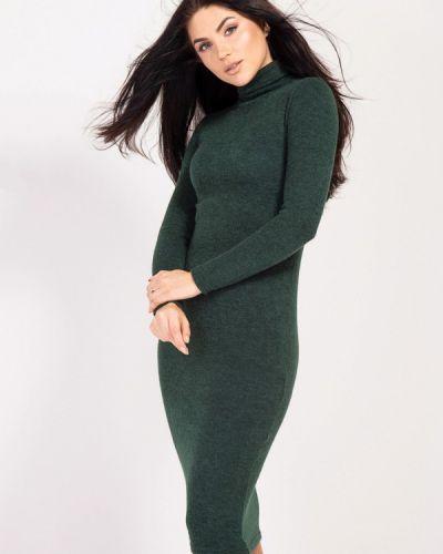 Платье осеннее зеленый Bessa