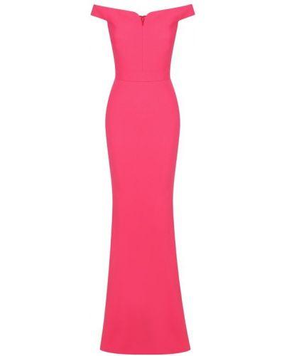 Вечернее платье розовое макси Alexander Mcqueen