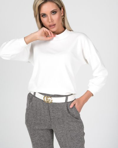 С рукавами трикотажная блузка с воротником Valentina