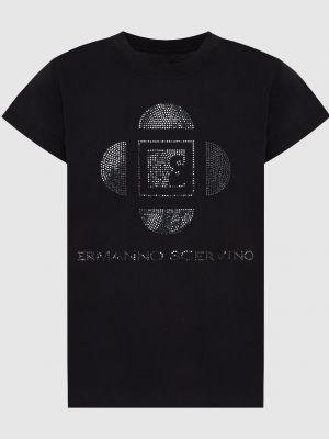 Черная футболка Ermanno Scervino
