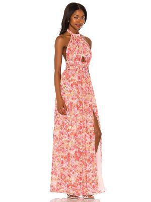 Sukienka z szyfonu - różowa Lovers + Friends