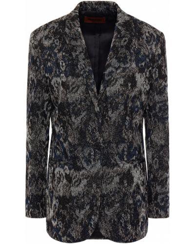 Пиджак с карманами на пуговицах жаккардовый Missoni