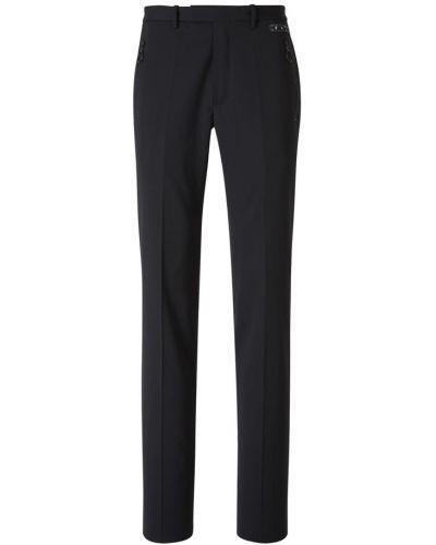 Czarne spodnie wełniane zapinane na guziki Off-white