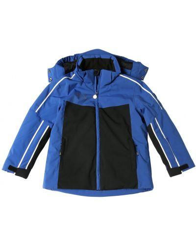 Нейлоновая синяя куртка горнолыжная на липучках Ea7 Emporio Armani