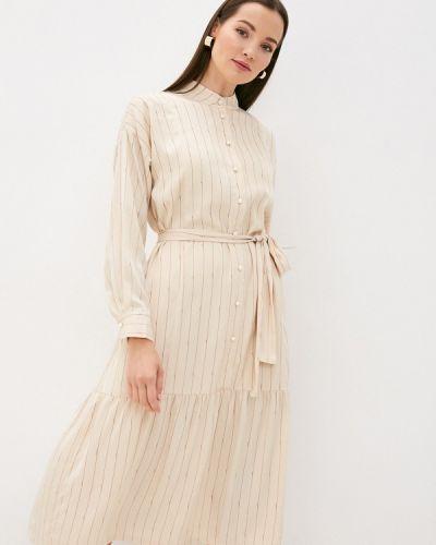 Бежевое платье Ichi