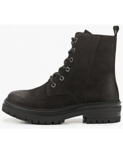 Черные ботинки из нубука Abricot