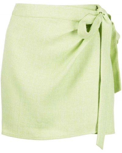 Zielona spódnica mini kopertowa z paskiem Ciao Lucia