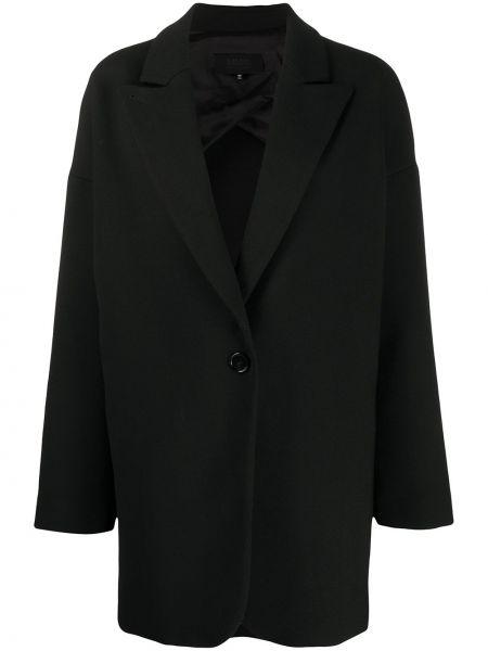 Шерстяной однобортный черный удлиненный пиджак Maison Martin Margiela Pre-owned