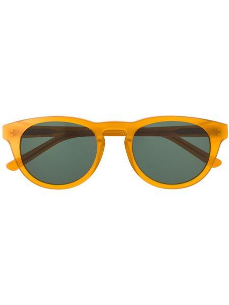 Муслиновые желтые солнцезащитные очки круглые Han Kjøbenhavn