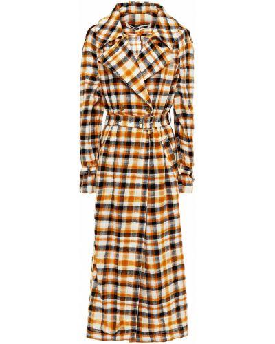 Шерстяное пальто двубортное с карманами Mcq Alexander Mcqueen