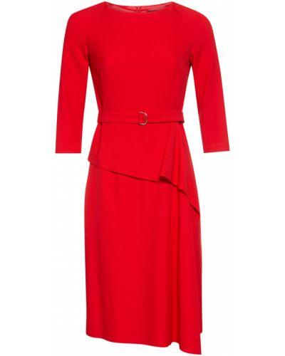 Платье из вискозы красный Vassa&co
