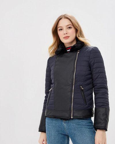 Утепленная куртка демисезонная черная Colin's