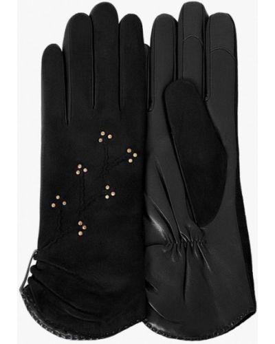 Черные кожаные перчатки Michel Katana