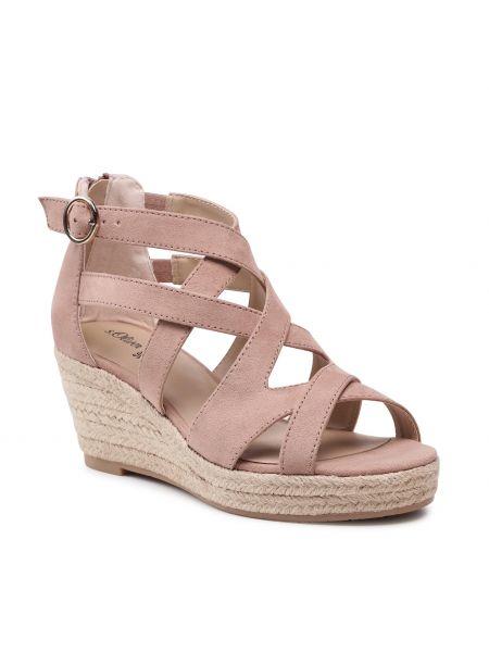 Sandały espadryle - różowe S.oliver