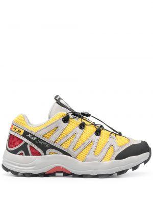 Кроссовки на шнуровке - желтые Salomon S/lab