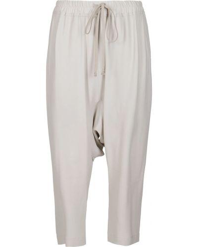 Szare spodnie Rick Owens