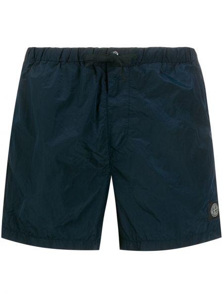 Короткие шорты синий Stone Island