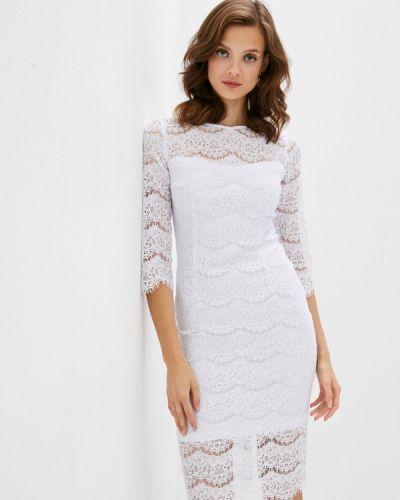 Прямое белое платье Vittoria Vicci