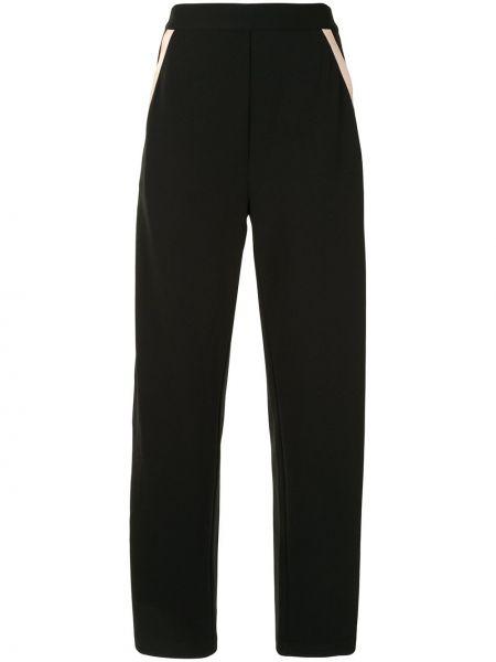 Черные брюки свободного кроя с высокой посадкой Edward Achour Paris