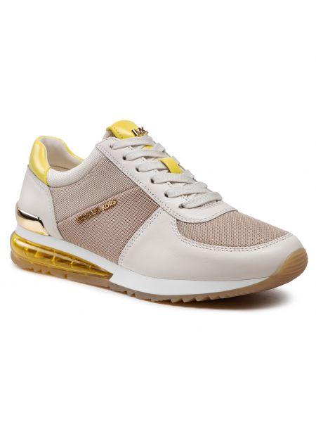 Buty sportowe skorzane - beżowe Michael Michael Kors